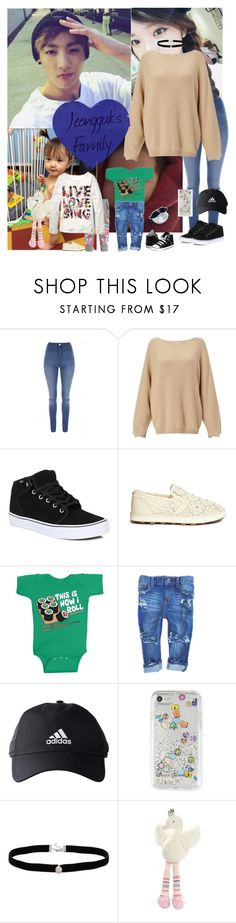 """""""Jeongguk's Family"""" by lizz-ek ❤ liked on Polyvore featuring Jane Norman, Vans, H&M, Stuart Weitzman, Converse, adidas, Rebecca Minkoff, Amanda Rose Collection and Elegant Baby"""