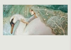 The Swan is a symbol of Sacred Union, Swan Priestesses were Ladies of the Lake, they married the Masculine and Feminine and held space for the consciousness of separation to come back home to Love. Feminine Symbols, Sacred Feminine, Divine Feminine, Animal Spirit Guides, Spirit Animal, Foto Fantasy, Fantasy Art, Animal Medicine, Clark Art