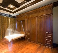 Built in Murphy bed - good idea for office