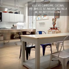 cucina | affitto sala e cucina | roma | idee per stare insieme Cooking Together, Kitchen, Furniture, Home Decor, Cooking, Decoration Home, Room Decor, Kitchens, Home Furnishings