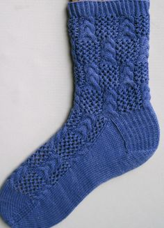 Knit Sock Pattern:  Triple Stacked Cables and Lace Socks