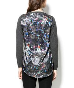 Another great find on #zulily! Gray Galaxy Hi-Low Sweater - Women by Zero Degrees Celsius #zulilyfinds