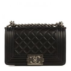 CHANEL Lambskin Quilted Small Boy Flap Black ❤ liked on Polyvore featuring bags, handbags, shoulder bags, chanel, accessories, shoulder bag purse, kiss-lock handbags, cross-body handbag, flap shoulder bag and quilted handbags