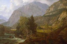 ヨハン・クリスチャン・ダール View of Fortundalen (ロマン主義)
