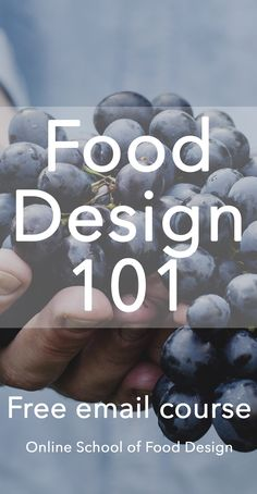 FREE Food Design course, with lessons delivered to your inbox! =) Interested in starting a career in Food Design but want to learn more before committing? This course might be what you're looking for. sign up here: http://onlineschooloffooddesign.org/courses/food-design-101
