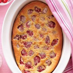 I always think about the movie Overboard - Clafouti.... Strawberry Clafouti - Great Strawberry Recipes - Sunset
