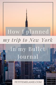 New York: Traveling Bullet Journal, Vol. 3. Here's how I planned out my trip to New York City in my Bullet Journal. Going on a trip soon? Ready to plan your vacation? Check out these useful travel collections for your Bullet Journal! #travelplanning #traveljournal Bullet Journal Travel, Bullet Journal Layout, Bullet Journal Inspiration, Journal Ideas, Places To Travel, Places To Visit, Plan My Trip, Going On A Trip, New York Travel