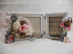 Altered picture frame, shabby chic, craft idea