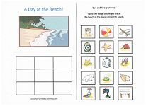 Fun cut and paste category activities for preschoolers: What goes in a backpack? What goes camping? What goes at the circus? What goes at the beach?