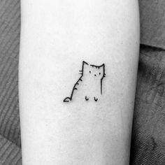 cat tattoo simple small - cat tattoo simple ` cat tattoo simple minimalist ` cat tattoo simple line drawings ` cat tattoo simple silhouette ` cat tattoo simple small ` cat tattoo simple black ` cat tattoo simple cute ` cat tattoo simple memories Tiny Tattoos For Girls, Cute Tiny Tattoos, Little Tattoos, Pretty Tattoos, Beautiful Tattoos, Small Tattoos, Tiger Tattoo Small, Small Colorful Tattoos, Cute Simple Tattoos