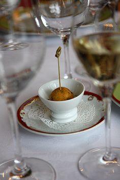 """Codfish Puff """"La Grande cascade"""" Restaurant, allée de Longchamp, Bois de Boulogne Paris"""