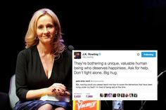 Harry Potter author and wonderful woman J.K. Rowling is no stranger to helping fans deal with their dementors.   J.K. Rowling Just Gave This Fan The Most Perfect Possible Gift