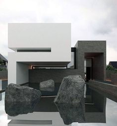 Who wants to live here? Casa E is designed by Orense Arquitectos and is located in - Architecture and Home Decor - Bedroom - Bathroom - Kitchen And Living Room Interior Design Decorating Ideas - Minimalist Architecture, Amazing Architecture, Contemporary Architecture, Modern House Facades, Modern House Design, Residential Architecture, Interior Architecture, Facade House, Exterior Design