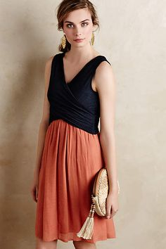 Love this color combo too! Crosswrap Dress - anthropologie.com #olliebeanstyle