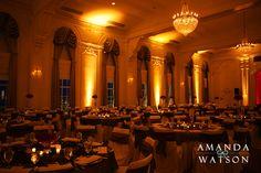 Wedding ballroom, dramatic lighting