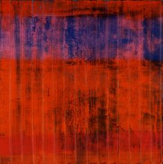 Since the 1990s, Richter has applied a small palette-knife to scrape off top layers of paint, such as in 'Wand'.