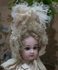 Rare Superb Antique French Original Bonnet for Jumeau Bru Steiner Eden bebe or german doll