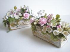 Shabby Chic Pink and White Roses Forget Me by cinderellamoments, $26.00