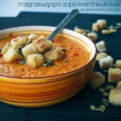 Rozgrzewająca zupa marchewkowa - przepis idealny na chłodne jesienno-zimowe popołudnia.