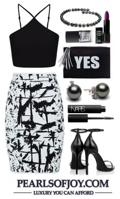 Pearls Of Joy 33 by pearlsofjoy on Polyvore featuring polyvore, fashion, style, Miss Selfridge, BCBGMAXAZRIA, Yves Saint Laurent, NARS Cosmetics and NYX