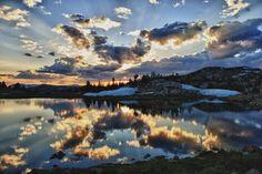 Sunset on the Beartooth Pass