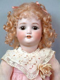"Angelic 23"" Simon Halbig German Doll Wearing Gorgeous Antique Pink Dress | eBay"