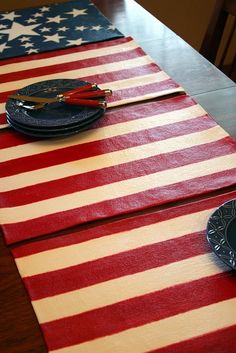 flag placemats good idea but why not make them look like real flags