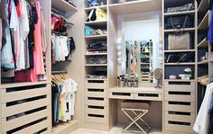 I'd die to have this closet.