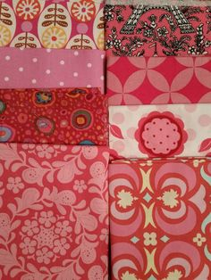 LOT OF 14 AMY BUTLER KAFFE FASSETT & OTHERS FQ COTTON CRAFT FABRIC QUILTING PINK