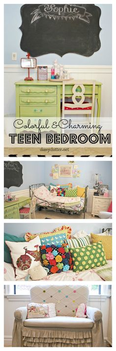 Painting ideas for kids rooms daughters chalk board 53 Ideas Teen Bedroom, Home Bedroom, Bedroom Decor, Bedroom Ideas, Country Look, Sala Grande, Shabby, Little Girl Rooms, Vintage Design