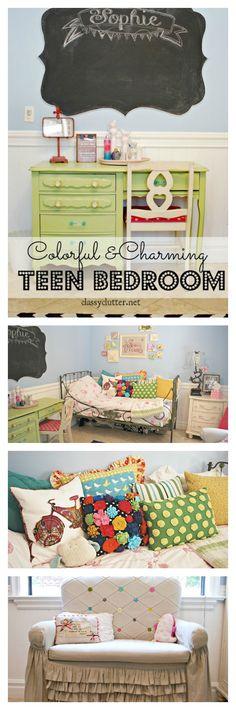 Colorful Teen Room - www.classyclutter.net