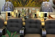 """Lucite and Black Lamps   29"""" High   $275  Eclectic Treasures Booth #8279  Lula B's  1010 N. Riverfront Blvd. Dallas, TX 75207  Like us on Facebook: http://www.facebook.com/pages/Eclectic-"""