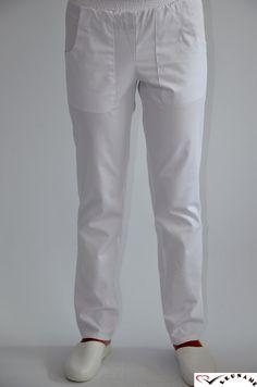 Pantaloni cu elastic si doua buzunare CM05 - aspect elegant, confort maxim, rezistenta sporita. Destinati industriei alimentare, farmaceutice sau spitalelor, ideal pentru utilizarea de catre medici, asistente medicale in cabinete medicale, spitale, policlinici, etc. Compozitie: 65% poliester, 35 bumbac.   http://incaltamintemedicala.ro/uniforme-medicale/cm05-pantaloni-cu-elastic-si-doua-buzunare-leuname