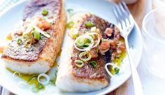 Cabillaud à la plancha, sauce chien (tomate, citron, ail, persil, tabasco, oignon, huile d'olive, fleur de sel et poivre concassé) - recettes Les plats - Picard