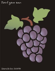 Grape Vine STENCIL Grapes Wine Fruit Botanical Vineyard Cafe Shabby Decor Sign in Crafts, Art Supplies, Decorative & Tole Painting   eBay