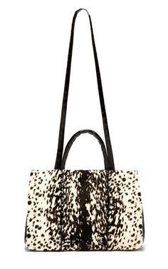 Snow Leopard Double Handle Tote by Nancy Gonzalez for Preorder on Moda Operandi