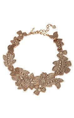 Antique Lace Bib Necklace by Oscar de la Renta