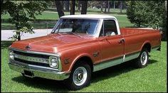 1970 Chevy || Chevrolet Pick-up Truck | Burnt Orange & White with dual gas tanks.