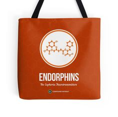 """""""Neurotransmitter Series: Endorphins"""" Tote Bags by Compound Interest 