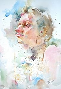 Sara by artist Annette Smith. #watercolor painting found on the FASO Daily Art Show - http://dailyartshow.faso.com