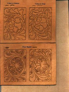 Printable Leather Tooling Patterns Western leather carving