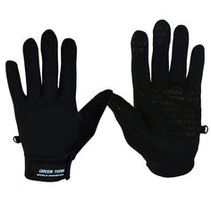 GREEN TEAM Cycling Bike Bicycle Motorcycle Sports Gloves Full Finger(1143) Size M - Black >>> Check this awesome product by going to the link at the image.