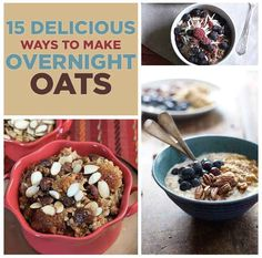 15 Recipes For Overnight Oats To Start Your Day With  Gonna start to try this.. peanut butter oat looks yummy..