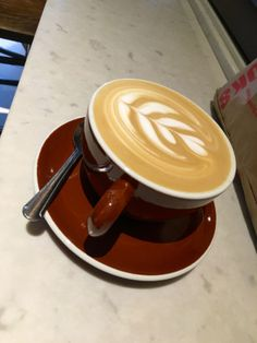 Delicious cappuccino from Stumptown!
