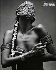 Lisa Haydon, Dayana Erappa, Bruno Amora, Gaurav Arora & Piyush In 'Bronze Age' For Vogue India November 2014
