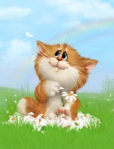 Funny art illustration kitty 37 Ideas for 2019 Cartoon Giraffe, Kitten Cartoon, Cute Cartoon Animals, Cute Animals, Animal Drawings, Cute Drawings, Cute Cartoon Wallpapers, Cute Birds, Funny Animal Pictures