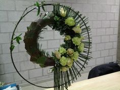 Wreaths with white flowers