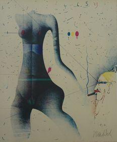 Paul Wunderlich - Surrealistic nude