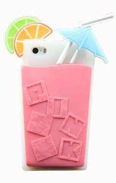 Victoria's Secret cocktail Beverage cup Soft Silicone case For iPhone 5 5S... not that only that is a mouthfull but this is a little ridiculous for an iPhone case. #iphone #iphone5 #iphone5scase #phonecase #victoriassecret #ridiculous