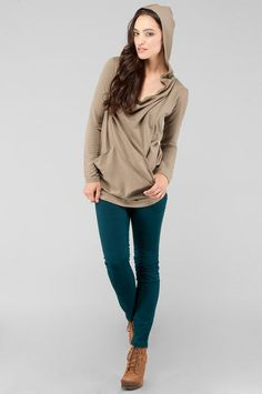 BB Dakota : jack donovan french terry cowl neck hoodie - So cute and comfy!  Want it in grey!